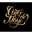 Cinco de Mayo glittering lettering design vector image