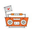 icon radio vector image