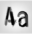 grunge tire letter vector image