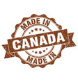 made in canada round seal vector image