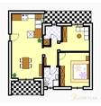Floor plan vector image