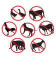 beware animals vector image vector image