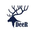 Deer logo design template vector image
