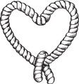 tied rope vector image