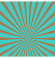 Sunburst with ray of light Template Blue and brown vector image