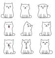 Cute white kittens vector image vector image