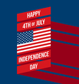 Independence day poster flat design vector image