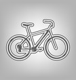 bicycle bike sign pencil sketch vector image