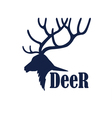 Deer logo design template vector image