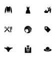 fashion 9 icons set vector image