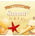 Summer holiday vacation background vector image