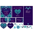Wedding invitation cards in Paisley style vector image