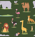 africa animals outdoor graphic travel seamless vector image