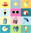 icons to the summer recreation vector image