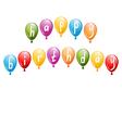 birthday greeting vector image