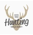 hunting vintage emblem design template vector image vector image