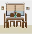 Dining room interior vector image