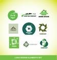 Logo element design company set vector image