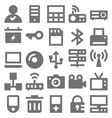 Network Technology Icons 4 vector image