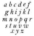 Set of Black Letters Halftone Alphabet vector image