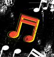 music grunge design vector image