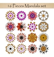Beautiful ornamental rosettes set For ethnic or vector image