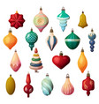 fir-tree decorations for new year and christmas vector image