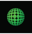 green ball vector image