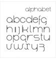 minimalist alphabet vector image