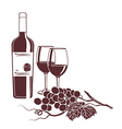 Monochrome background template for the wine menu vector image
