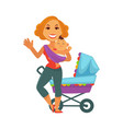 motherhood baby care happy mother and newborn vector image