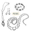 Pearl jewelry vector image