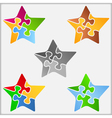 Puzzle Star vector image