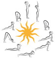 yoga sun salutation vector image