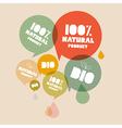 Retro Natural Product Bio Green Labels Set vector image