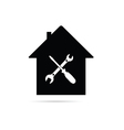 home with tool black vector image