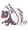 cute cartoon porcupine vector image