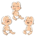 Set of baby emotion icons vector image