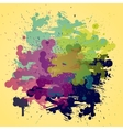 Artistic watercolor background with semi vector image