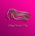 Beautiful long hair for international women day vector image