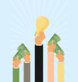 crowdfunding investing into ideas funding project vector image
