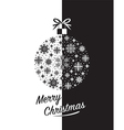 merry christmas black vector image