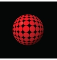 red ball vector image