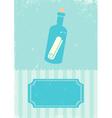 Sea bottle vector image