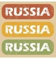 Vintage Russia stamp set vector image