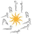 yoga sun salutation vector image