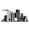 black city vector image