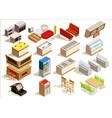 fast food furniture set vector image