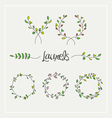 Laurels graphic set vector image vector image