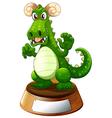 An angry green dragon vector image vector image